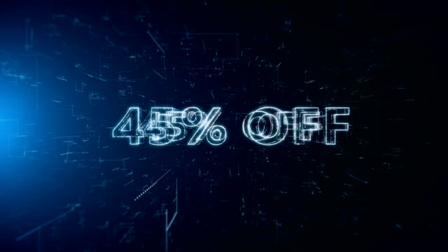 advertisement text banner 45 percent off - capital letter stock videos & royalty-free footage