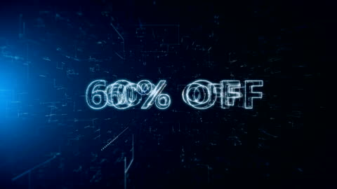 advertisement text banner 60 percent off - capital letter stock videos & royalty-free footage