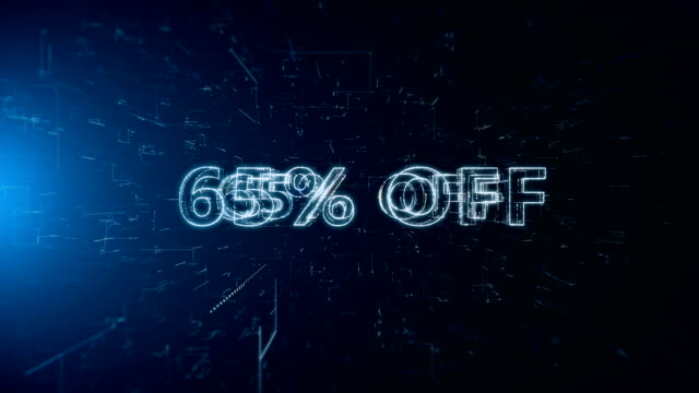 advertisement text banner 65 percent off - capital letter stock videos & royalty-free footage