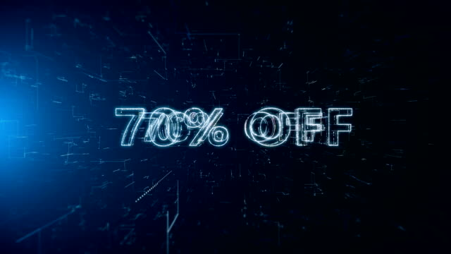 advertisement text banner 70 percent off - capital letter stock videos & royalty-free footage