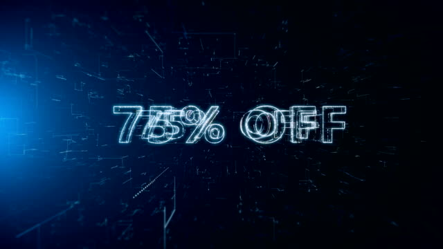 advertisement text banner 75 percent off - capital letter stock videos & royalty-free footage