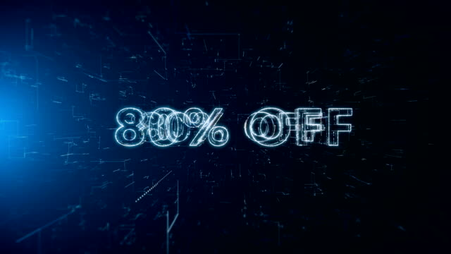advertisement text banner 80 percent off - capital letter stock videos & royalty-free footage