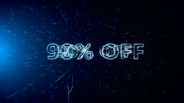 advertisement text banner 90 percent off - capital letter stock videos & royalty-free footage