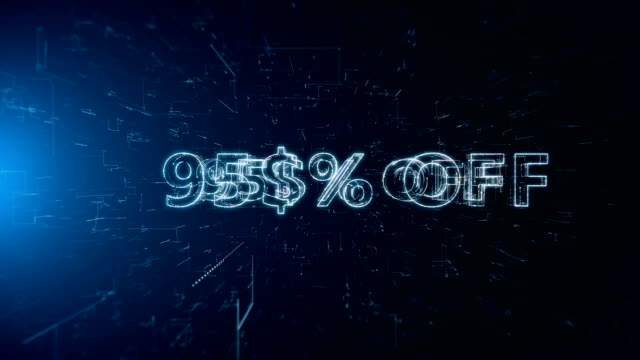 advertisement text banner 95 percent off - capital letter stock videos & royalty-free footage