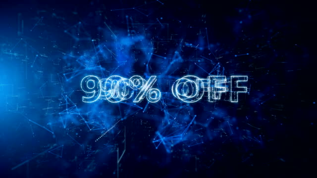 advertisement text, promotion 90% off - capital letter stock videos & royalty-free footage