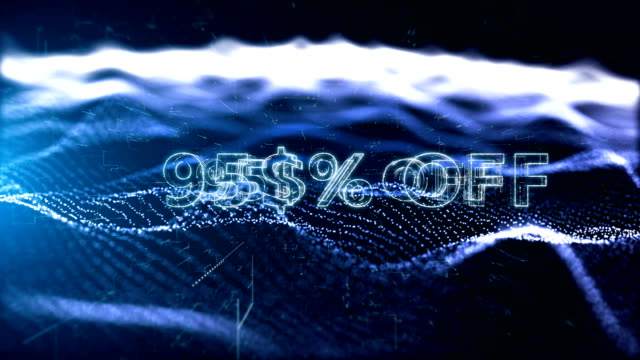 advertisement text, promotion 95% off - capital letter stock videos & royalty-free footage