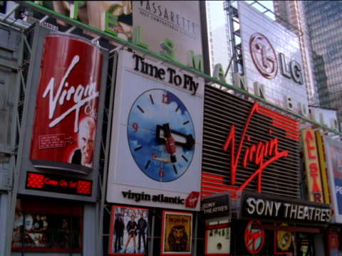 Advertisements above cinema in Times Square, New York City