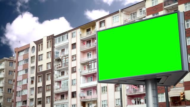 Werbung Plakat mit grünen Bildschirm