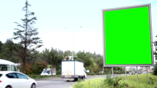 Advertising Billboard with Green Screen