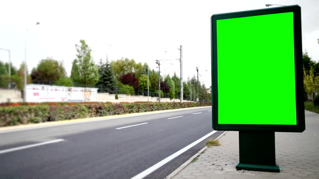 advertising billboard with green screen - reklamskylt bildbanksvideor och videomaterial från bakom kulisserna