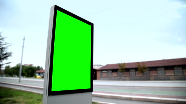 advertising billboard with green screen - billboard stock videos & royalty-free footage