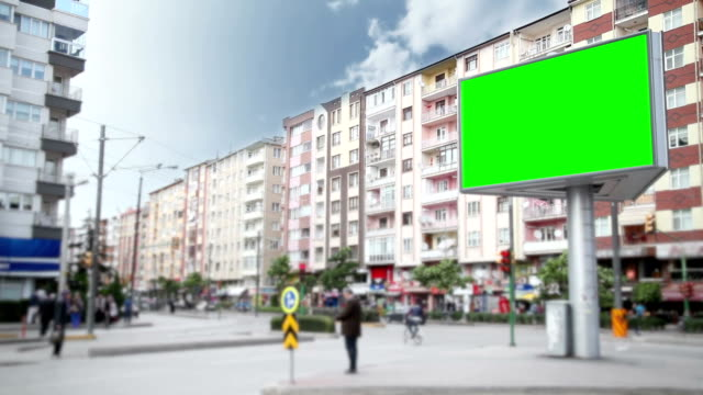 advertising billboard with green screen - poster stock videos and b-roll footage