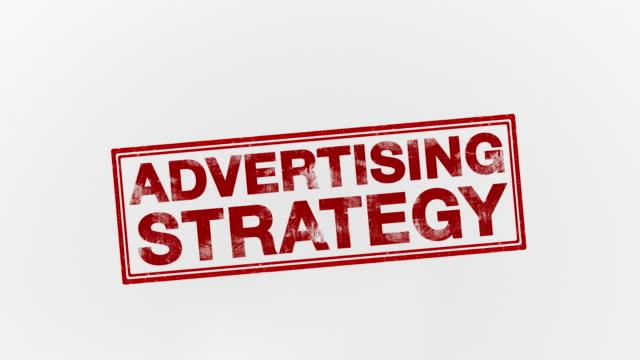 広告戦略 - 郵便切手点の映像素材/bロール