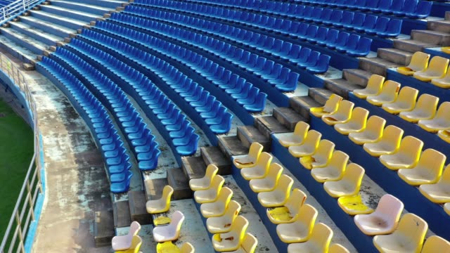 aeiral view of empty seats in a stadium - seat stock videos & royalty-free footage