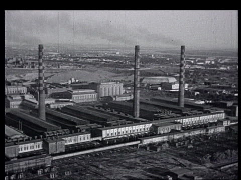 aer over dam, factories, big constructions. fields, canals. lenin's statue with arm showing the way to communism. - 1959 stock videos & royalty-free footage