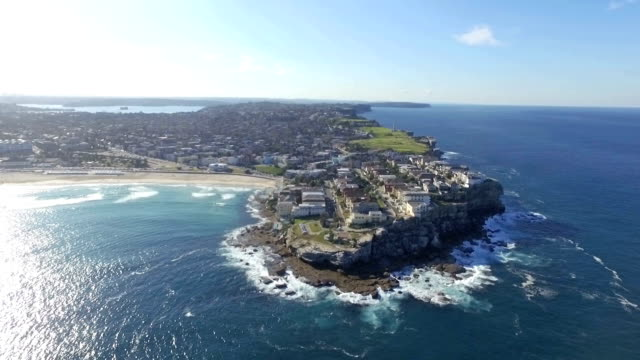 aerai video of australia cliff. - sydney stock videos & royalty-free footage