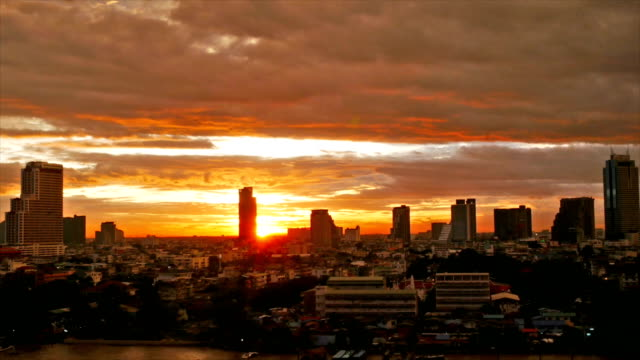 aerail cityscape at sunset - africa stock videos & royalty-free footage