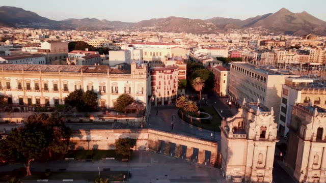aereal view of palermo, sicily - sicily stock videos & royalty-free footage