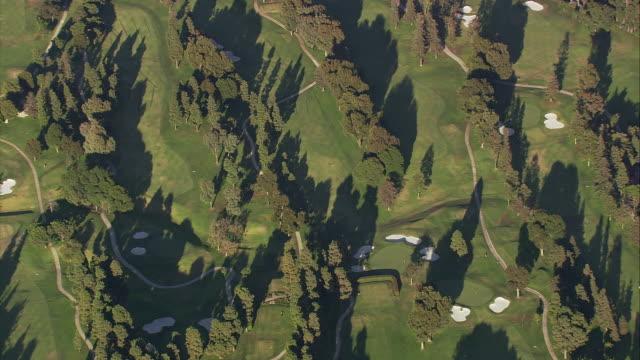 aeria ts ha golf course / california, united states. - santa monica stock videos & royalty-free footage