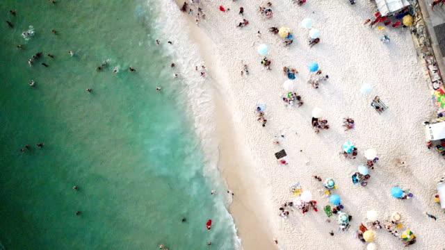 Aerial 4K footage of a Ipanema Beach in Rio De Janeiro