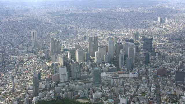 stockvideo's en b-roll-footage met aerial 4k shot over japan - wide shot