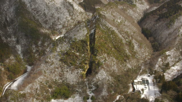 vídeos de stock, filmes e b-roll de aerial 4k shot over japan - ruína antiga
