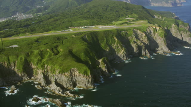 aerial 4k shot over japan - helicopter point of view stock videos & royalty-free footage