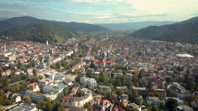 aerial 4k video of freiburg city, germany - town stock videos & royalty-free footage
