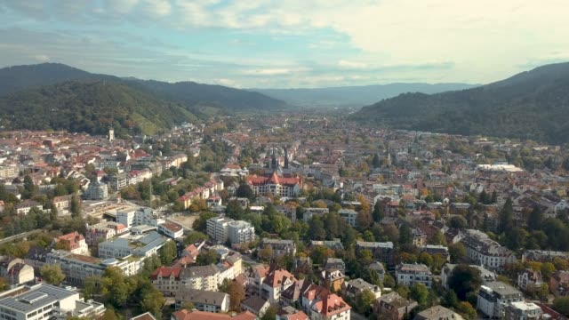 aerial 4k video of freiburg city, germany - baden württemberg stock videos & royalty-free footage