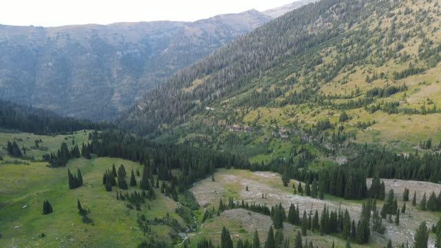 aerial above vast valley - wyoming stock videos & royalty-free footage