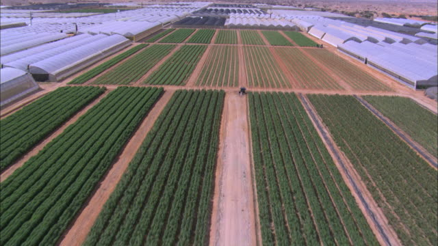 Aerial Agriculture greenhouses of the Negev, Israel