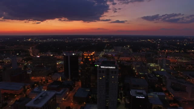 aerial alabama birmingham - twilight stock videos & royalty-free footage