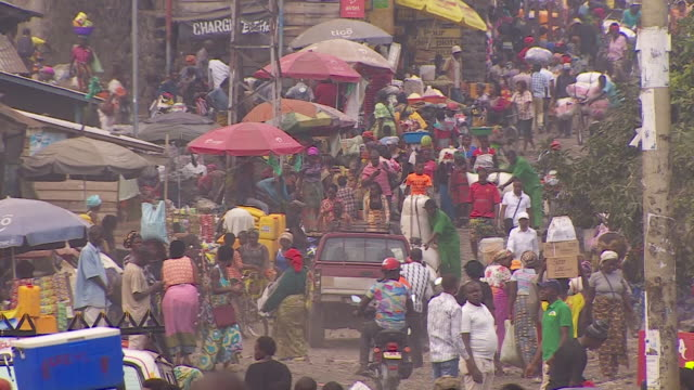 aerial and high angle views of goma democratic republic of congo - cityscape stock videos & royalty-free footage
