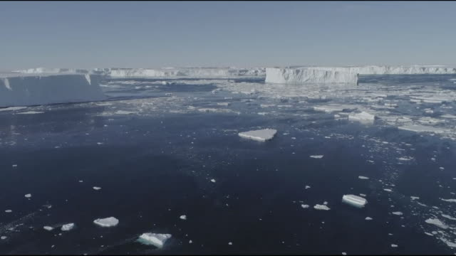aerial antarctic glacier and sea water - pole stock videos & royalty-free footage