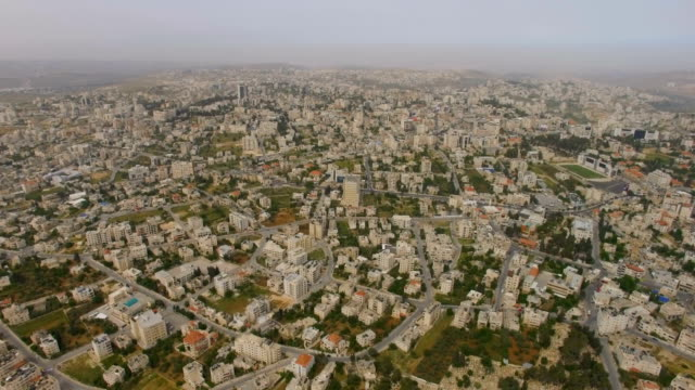 aerial / arab city of ramallah, palestinian territories - ramallah stock videos and b-roll footage