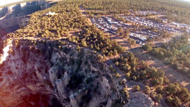 aerial arizona grand canyon - at the edge of stock videos and b-roll footage