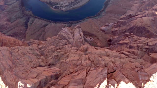 aerial arizona horseshoe bend grand canyon - grand canyon stock-videos und b-roll-filmmaterial