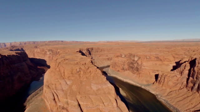 Aerial Arizona Horseshoe Bend Grand Canyon