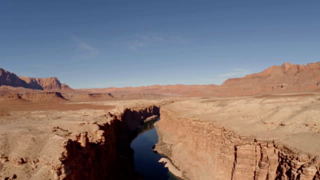 aerial arizona marble canyon - canyon stock videos & royalty-free footage