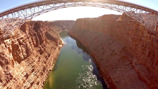 veduta aerea arizona marble canyon - grand canyon video stock e b–roll