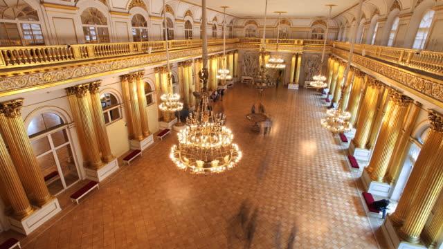 vídeos y material grabado en eventos de stock de aerial armorial hall - palacio interior