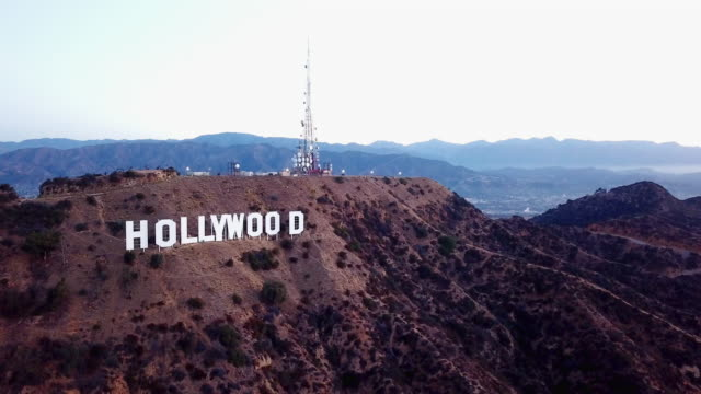 Aerial Ascent in Front of the Hollywood Sign