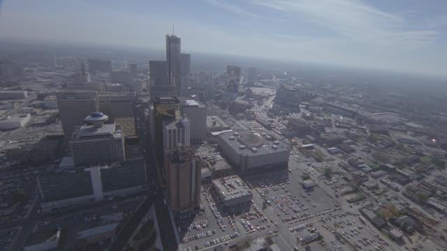 aerial atlanta (fish eye lens) - distorted stock videos & royalty-free footage