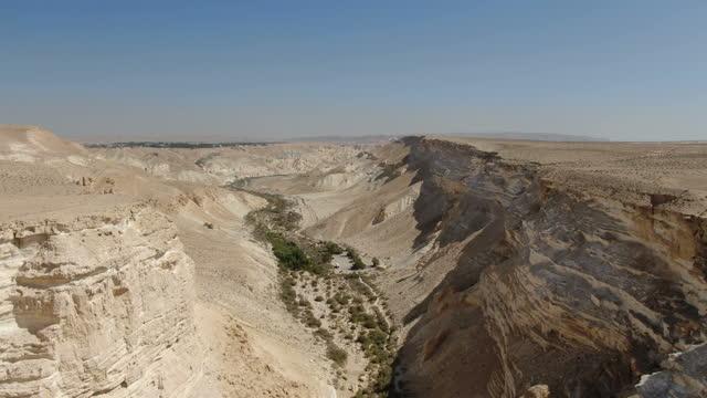 aerial / avdat canyon, israel - ネゲブ点の映像素材/bロール
