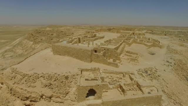 aerial/ avdat, nabataean city in the negev desert, southern israel - negev stock videos & royalty-free footage