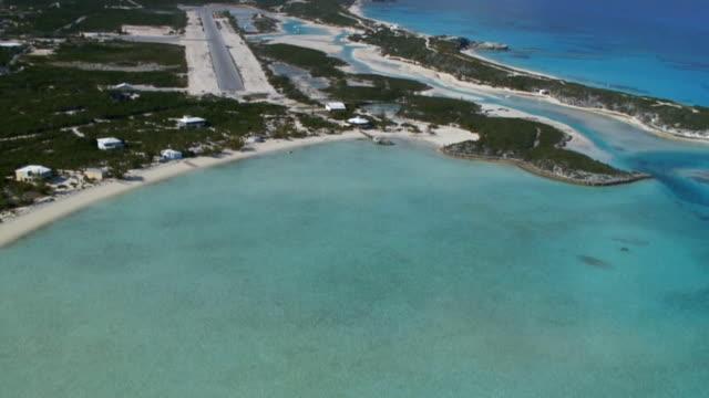 aerial bahamas low flight - bahamas stock videos & royalty-free footage