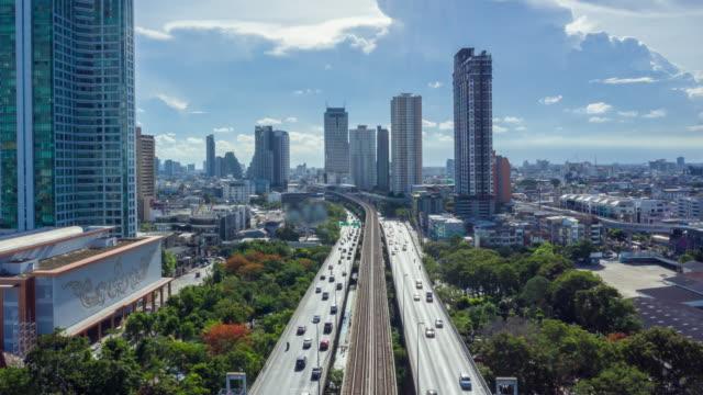 luft-bangkok-stadt thailand - landfahrzeug stock-videos und b-roll-filmmaterial