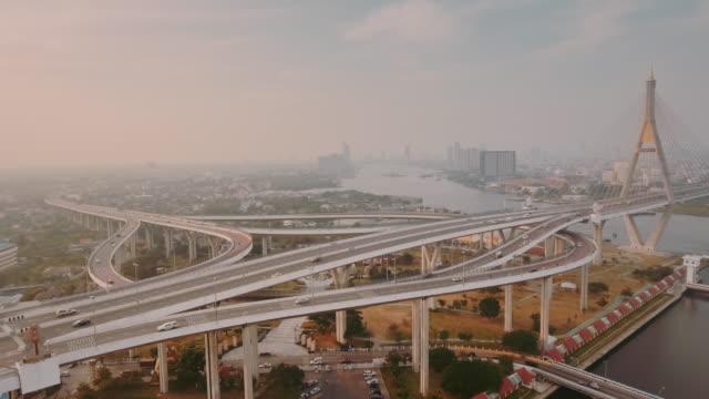 Aerial Bangkok Riverside Innenstadt