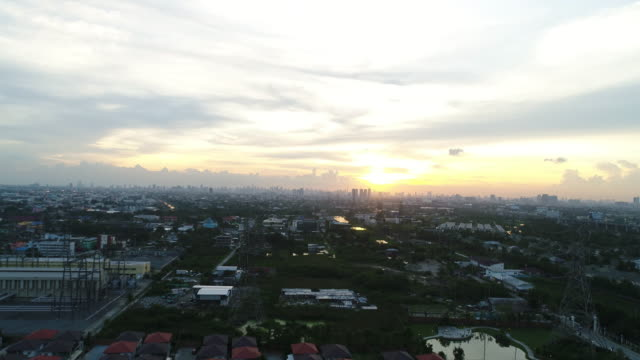 aerial bangkok - city street stock videos & royalty-free footage