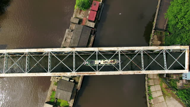 """aerial barton swing aqueduct, greater manchester - """"bbc universal"""" stock videos & royalty-free footage"""